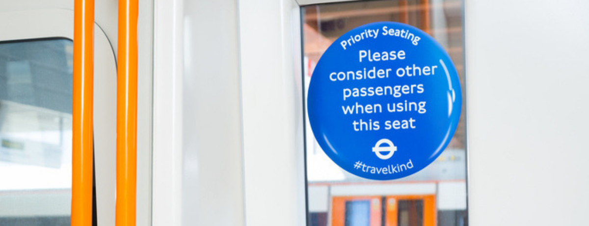 An image of a notice of priority seating